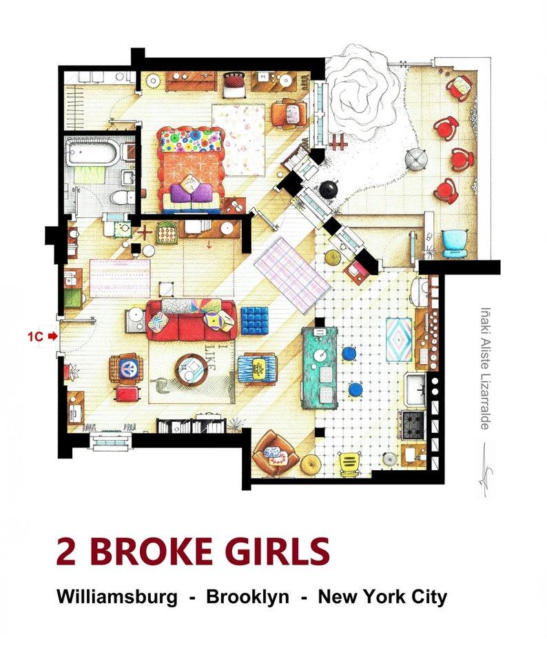 plan appartement new girl