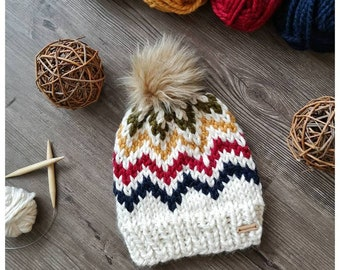625f238878b Hudson s Bay Inspired Striped Winter Beanie Toque - Adult Size   MADE TO  ORDER