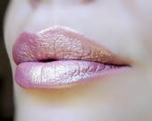 Surya - Light Pink with Golden Shine Duochrome Lipstick - Natural - Gluten Free - Fresh - Handmade Cruelty Free