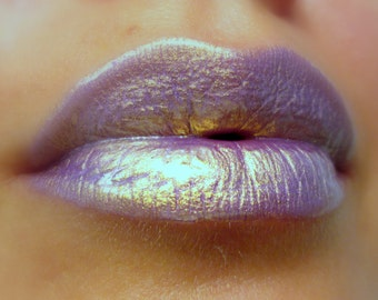 AstroLilac - Golden / Lilac Shimmer Liquid Lip Gloss Handmade, Vegan, Cruelty Free, Gluten Free, Fresh