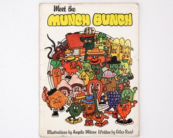 Vintage paperback book: Meet the Munch Bunch, Giles Reed and Angela Mitson, 1982