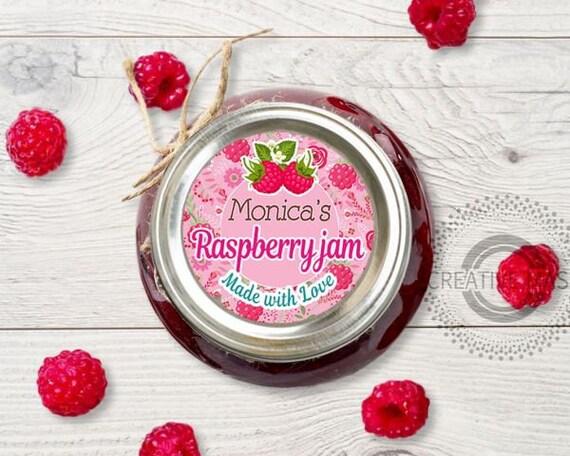 Mason Jar canning labels PERSONALIZED Digital Printable PDF File -  Printable jam jar label
