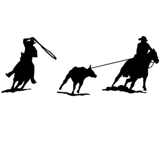Roping Rodeo Decal Western Cowgirl Equestrian Car Window Horse Vinyl Sticker