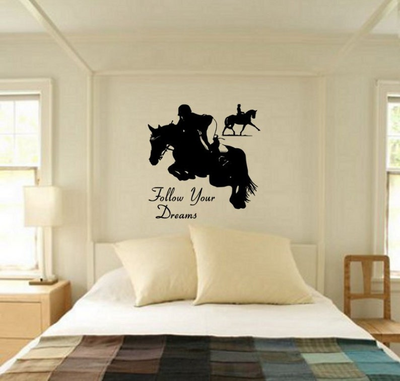 Horse Quote decal,Horse Decal,Horse Wall Decal,Quote Decal,Eventing Decal,Teen Room,Vinyl wall decor-29 X 29 inches Wall Decal Wall Sticker