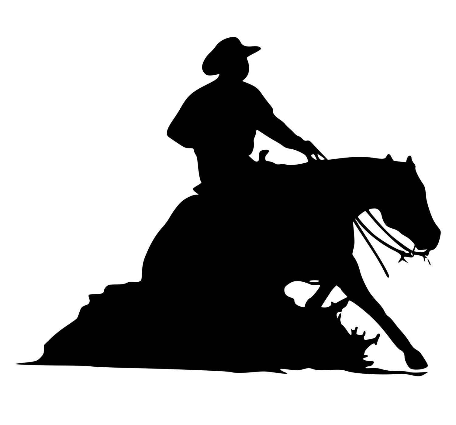 Horse Decal-Western Horse Wall Sticker-Reining Horse Decal