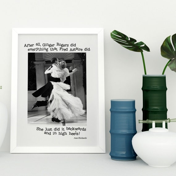 After All Ginger Rogers Could Do Everything Fred Astaire Could Etsy