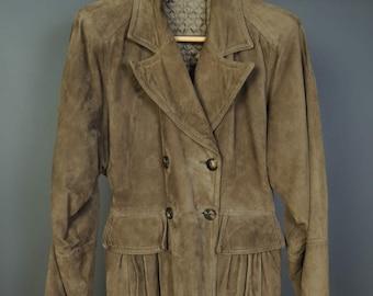 b26cb1f3ebff1 Valentino Suede Coat - Vintage 1970s