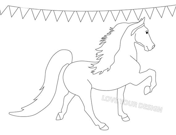 Grey Arabian Horse coloring page | Free Printable Coloring Pages | 440x570