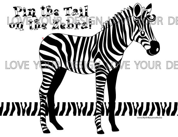 photo relating to Pin the Tail on the Donkey Printable named Pin the Tail upon the Zebra Video game Prompt Down load - printable electronic jpeg documents Striped Zebra Recreation for Birthday Bash-