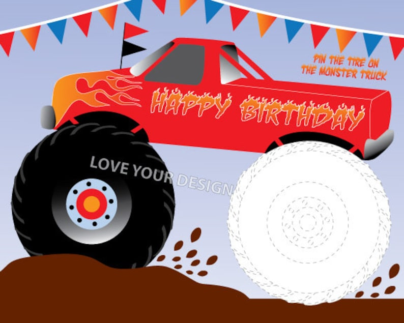 Free & Easy To Print Monster Truck Coloring Pages - Tulamama | 635x794