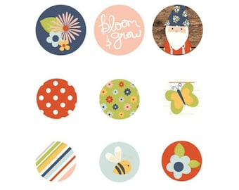 Simple Stories Bloom and Grow Self-Adhesive Bradz for Scrapbook/Cards/Paper Crafts