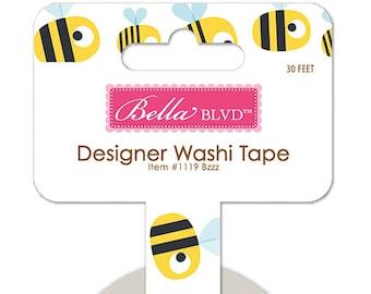 Bella Blvd Sweet Sweet Spring Bzzz Designer Washi Tape, 30-ft Roll of Scrapbook/Crafting Tape