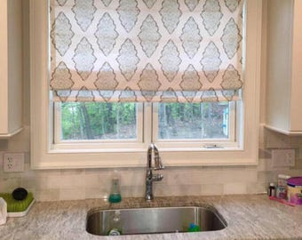 Genial Kitchen Roman Shade, Custom Fabric Blinds, You Provide The Fabric Of Your  Choice. Blackout Roman Shade Option