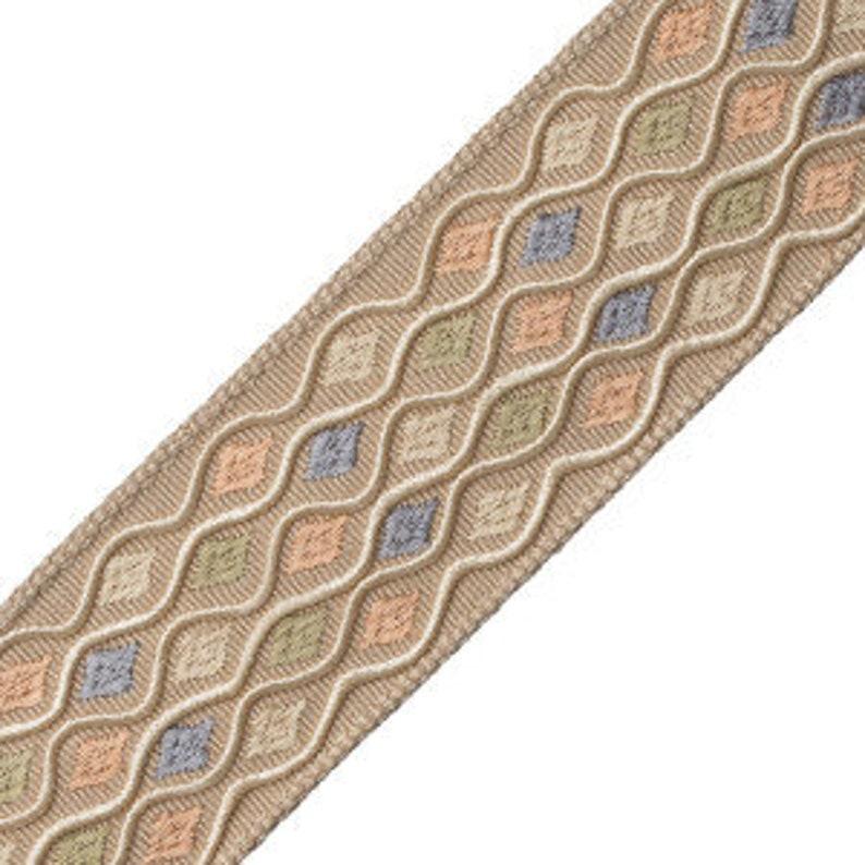 Embroidered Autumn Designer Trim Tape