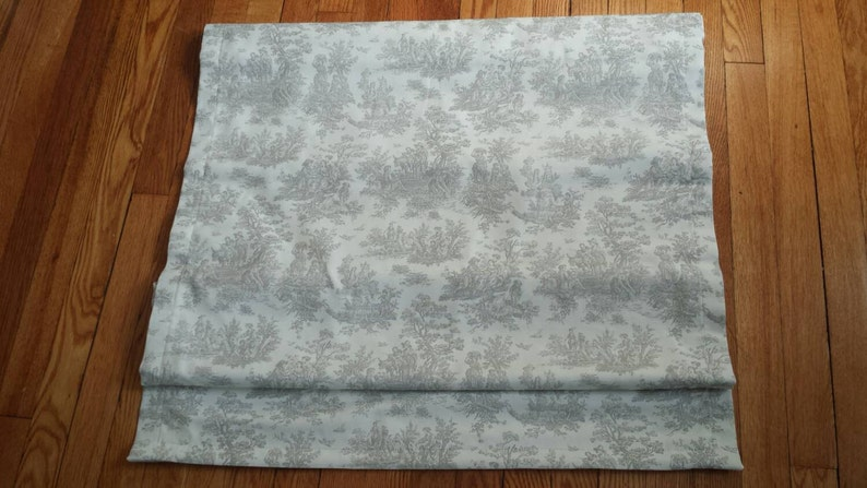 White Roman Shade You provide the  fabric of your choice Beautiful Custom Roman Shade Blackout Roman Blind Option