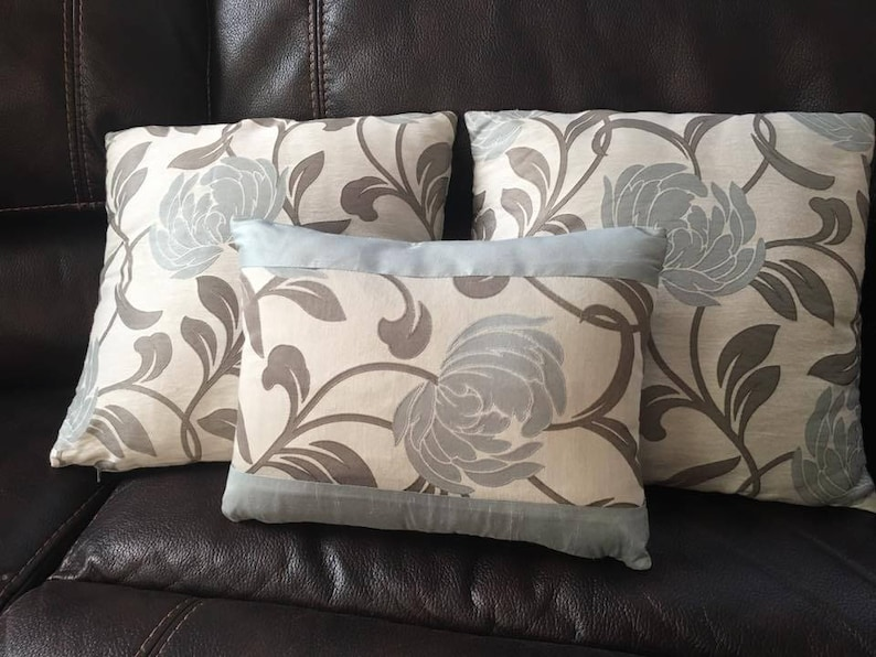 Zip Off Custom Pillows using your own fabric Throw Pillow Easy to Clean Match to a a Roman Shade Custom Pillow Covers