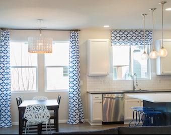 Custom Roman Shade- Any Fabric. Flat Roman Shade, Fully Functional Shades, Blackout Window Treatments, White Roman Shades