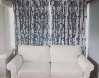 2 Pinch Pleat Custom Curtain Panels. Listing Includes 2 Panels. Any Fabric!
