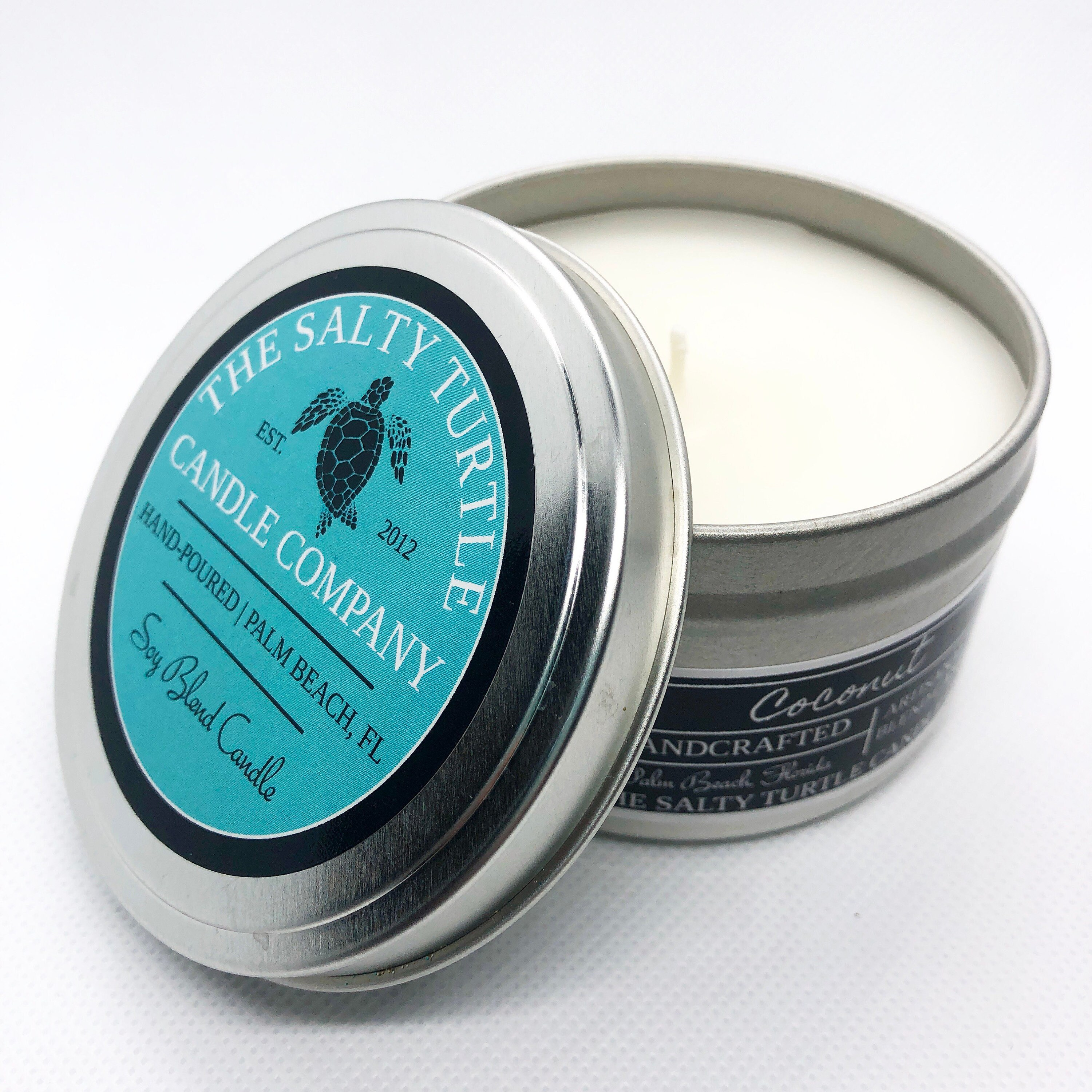COCONUT - Choose from Candle Travel Tins or Wax Melt Cube