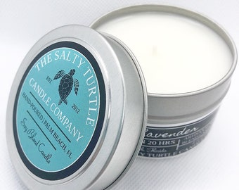 SALTY SEA AIR - Soy Blend Candle Travel Tins and Wax Melts