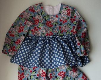 PDF Pattern Ruffled Pj Pattern, Girl Pajama Pattern, PJ sewing Pattern, Nightgown Pattern