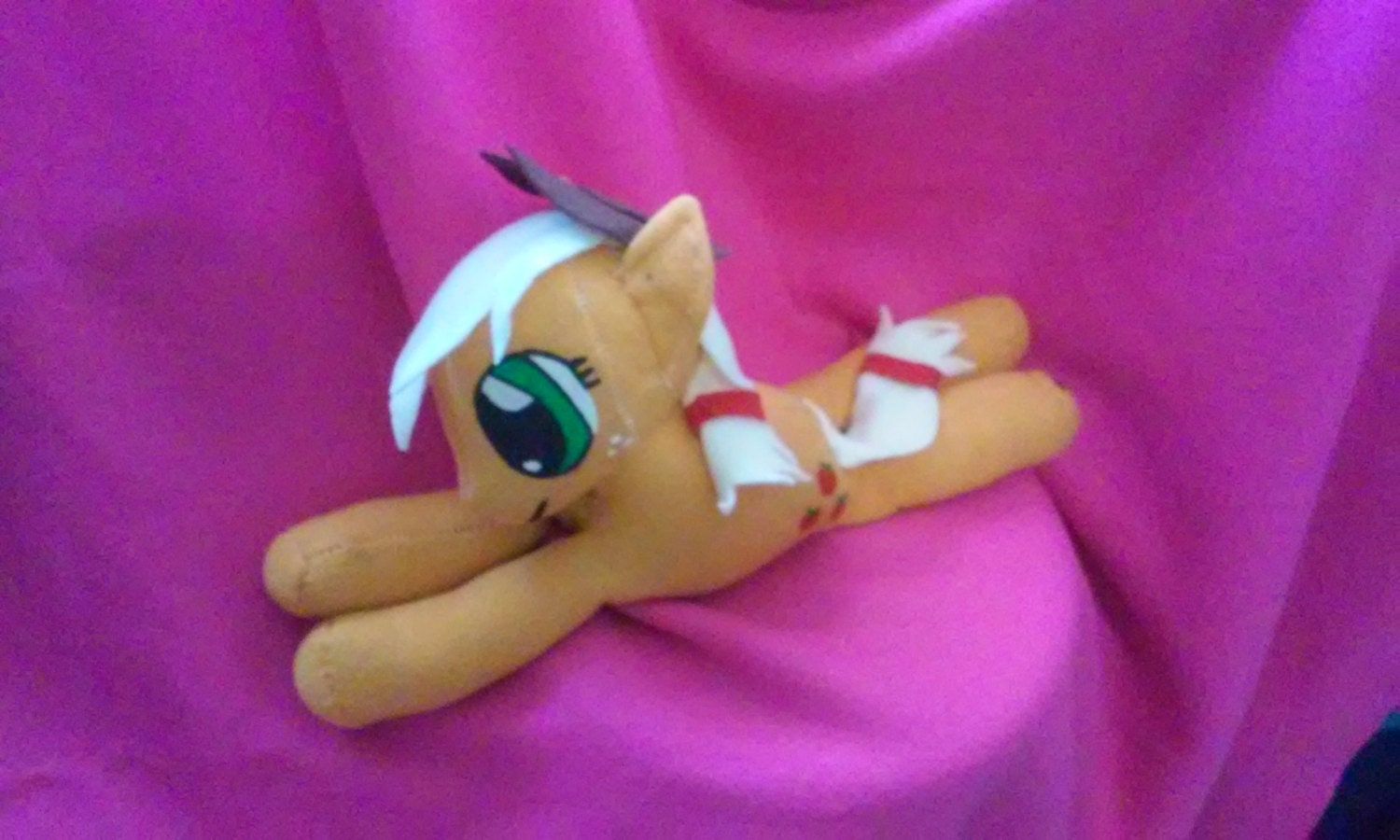 8ff77676fc0 Apple Jack Beanie Custom Hand Made Mlp My Little Pony