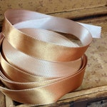 30 yard roll of champagne and gold stitched satin ribbon