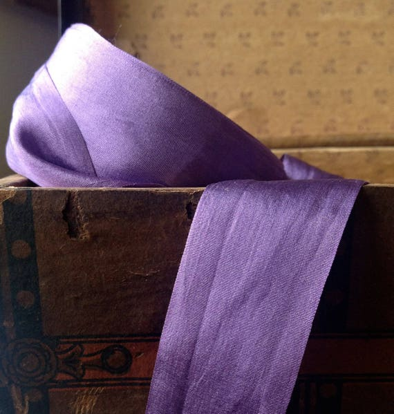 32 yard soie rouleau de ruban en soie yard violet violet ca9290