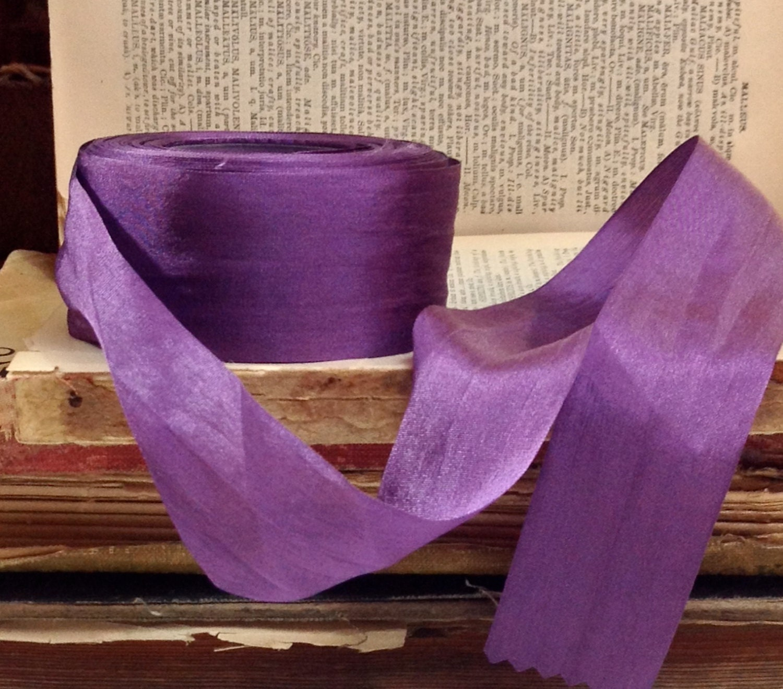 lila violett seidenband etsy. Black Bedroom Furniture Sets. Home Design Ideas