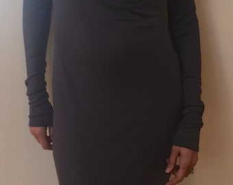 New! CarmenAndersonNY Tunic cowl neck dress. Style CA2D37 Sustainable knit jersey material. Made 100% in USA