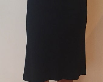 CarmenAndersonNY Modal Knit jersey knee length skirt. Style CAB-5, Made 100% in the USA