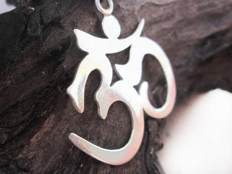 Silver OM Pendant Handmade Silver Pendant OM Statement Silver Pendant