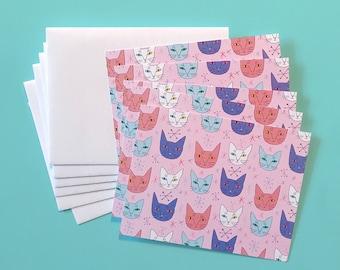 Star Kitten Notecard Set (10 Blank Notecards with Envelopes)
