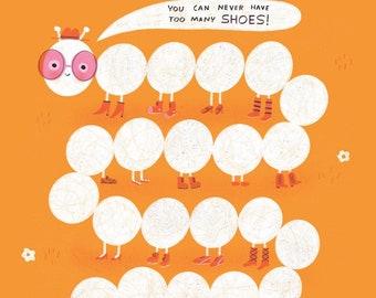 Fashion Bug 8x10 Quirky Children's Art Print
