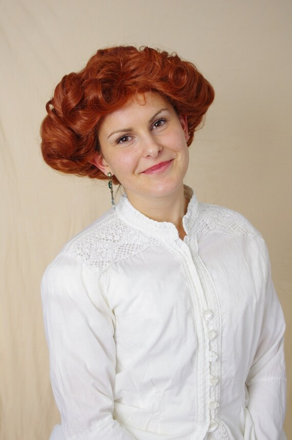 Edwardian Gloves, Handbag, Hair Combs, Wigs Emma - Edwardian Gibson girl wig $105.99 AT vintagedancer.com