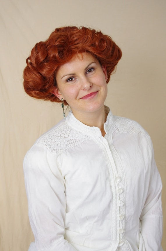 Vintage Hair Accessories: Combs, Headbands, Flowers, Scarf, Wigs Emma - Edwardian Gibson girl wig $105.99 AT vintagedancer.com