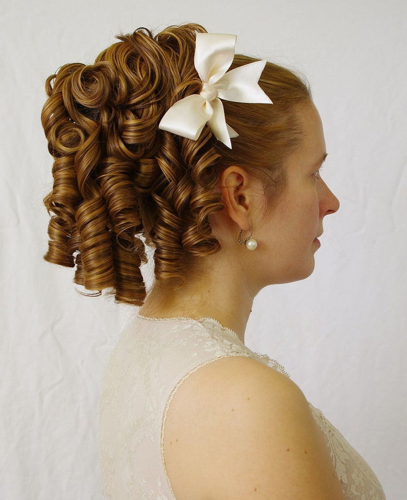 Victorian Wigs, Hair Pieces  | Victorian Hair Jewelry Sophia - elegant regency romantic huge ringlet hairpiece (also suitable for Lolita victorian or civil war costumes or wedding) $62.84 AT vintagedancer.com