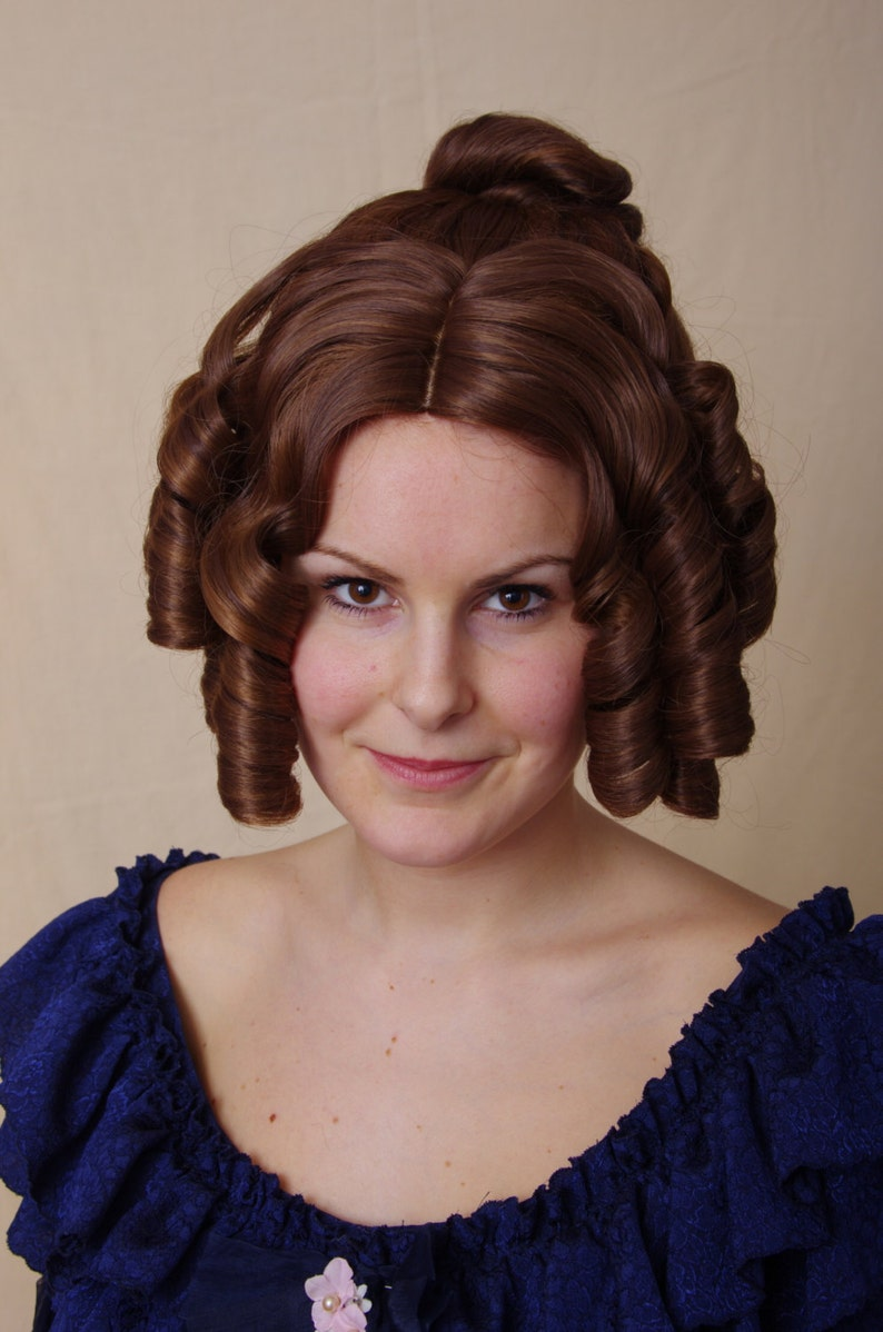 Victorian Wigs, Hair Pieces  | Victorian Hair Jewelry Henriette - regency wig $109.34 AT vintagedancer.com