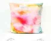 Sunset Dream - Watercolor Throw Pillow