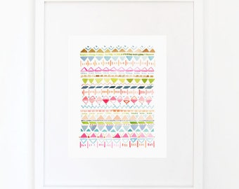 Rhythmic No. 2 - Watercolor Art Print