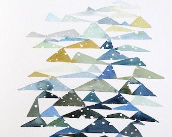 "10"" x 14"" Triangle Landscape Study #2 - Original Painting"