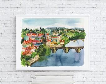 Prague - Watercolor Art Print