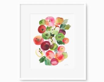 Apples to Apples - Watercolor Art Print