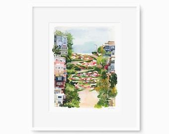 San Francisco - Watercolor Art Print