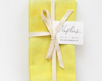 Lemon Wash - Set of 4 Napkins