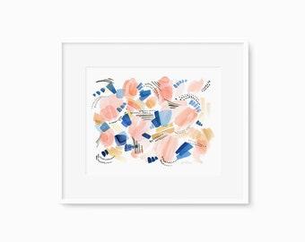 Sand and Sea - Watercolor Art Print