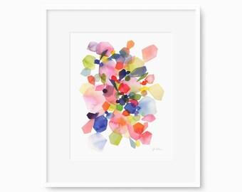 Sapphire Gems - Watercolor Art Print
