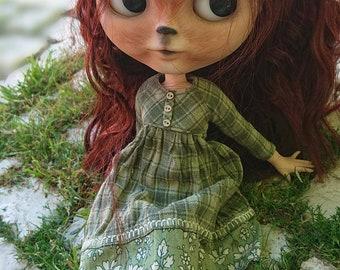 Naala. OOAK Original Takara Custom Blythe doll.