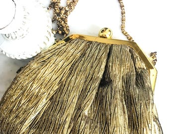 Vintage Gold Lamé Nordstrom Evening Bag