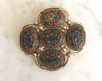 Vintage Multi Colored Sarah Coventry Brooch